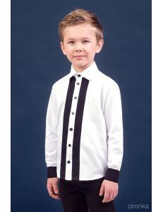 Сорочка белого цвета с черными полосами