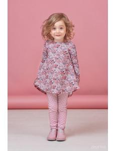 """Комплект розового цвета брюки и туника """"Маленькая красотка"""""""